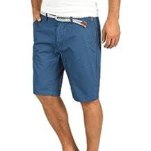 Blend Ragna Herren Chino Shorts Bermuda Kurze Hose mit Kordel-Gürtel aus 100% Baumwolle Regular Fit