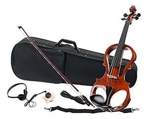 Classic Cantabile EV-81 Set complet violon électronique (casque audio,archet, câbles, coffre et bretelle inclus)