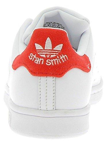 adidas Stan Smith, Scarpe da Ginnastica Basse Uomo Bianco (Footwear White/footwear White/red)