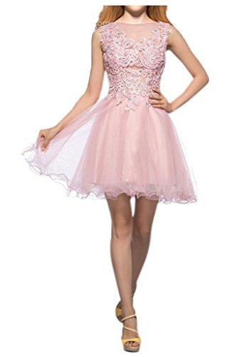 Royaldress Lilac Spitze Kurzes Abendkleider Cocktailkleider Promkleider Heimkehr Tanzenkleider Mini Rosa