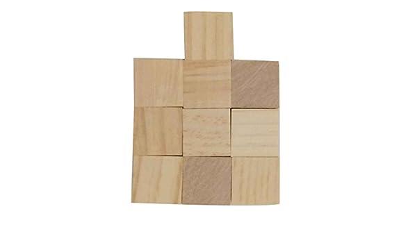 Meisijia Di Legno di Pino Mattoni stereoscopica cubo Quadrato Building Blocks Bordi Fai da Te Segherie mestiere Giocattoli Carving Decoration