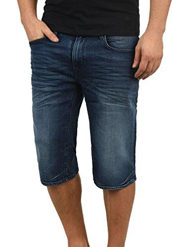 Blend Denon Herren Jeans Shorts Kurze Denim Hose Aus Stretch-Material Regular Fit, Größe:S, Farbe:Denim Darkblue (76207) - Und Hosen Jeans