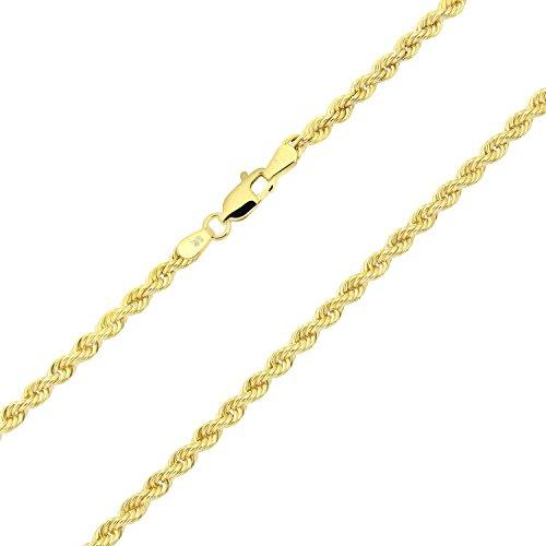 14 karat / 585 Gold Kordel Armband Gelbgold 3 mm. Breit (21)