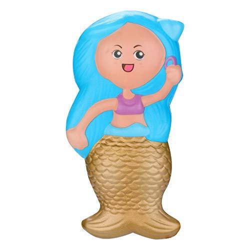 Mitlfuny Kawaii Langsam Dekompression Creme Duftenden Groß Squishy Spielzeug Squeeze Spielzeug,Squishies Toy Kawaii Mermaid Langsam steigende Creme duftende Stressabbau Spielzeug ()