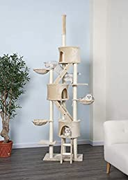 Go Pet Club Three Condo Cat Tree, Light Beige, Fc01,