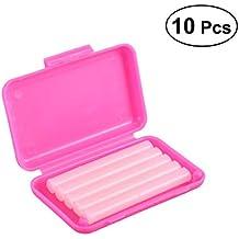 ROSENICE 10pcs cera de ortodoncia dental para ortodoncia refuerzos portador sabor de fresa (rosa)