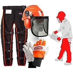 Oregon Kit de vêtements de travail de sécurité pour travail à la tronçonneuse Pour femme Type A Universel Avec pantalon avant, gants et casque