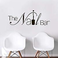 Nail Bar Nail Hair Salon Girls Beauty Salon Wall Stickers Pedicure Manicure Nail Decal Vinyl Office Wall Mural Interior 57 * 22cm