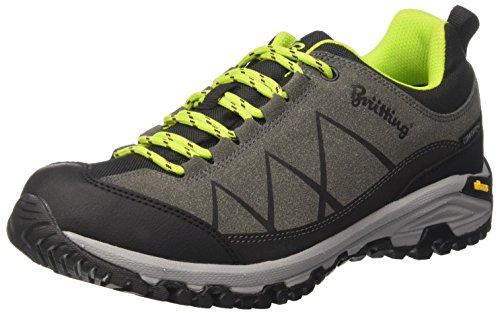 Kansas Schuhe (Bruetting Unisex-Erwachsene Kansas Trekking-& Wanderhalbschuhe, Grau Anthrazit/Schwarz/Lemon, 44 EU)
