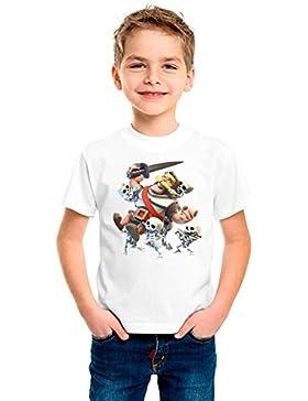 Tu la pintas Camiseta el Caballero Esqueleto Royale Infantil Blanca (Talla 9-11, Blanco)