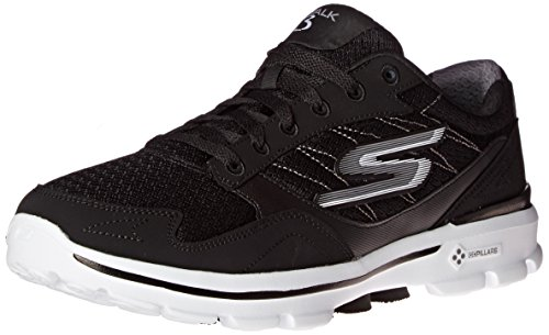 Skechers Go Walk 3, Baskets Basses Homme Black/White