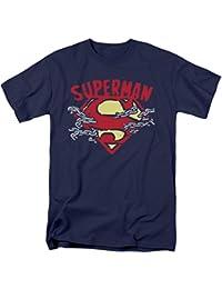 Superman - - Chaîne T-shirt de coupure pour hommes