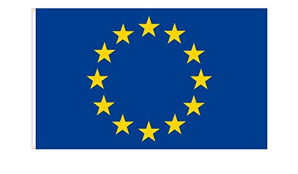Partydiscount24 Fahne Europa 150 Cm X 90 Cm Spielzeug