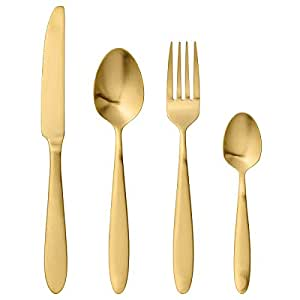 Bloomingville Set di posate oro (4 pezzi)