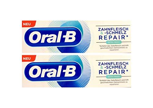 2x Oral-B Zahnfleisch und Zahnschmelz Repair extra frisch Zahnpasta 75 ml