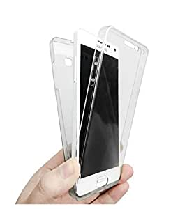 Plus 2 in 1 Clear Transparent Soft TPU Front Case + Back Cover 360 Degree Full Body Protection For Samsung Galaxy J7