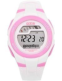 OTS - Reloj Digital Deportivo Impermeable con Alarma Luminoso de Cuarzo Cronómetro para Niños Niñas y