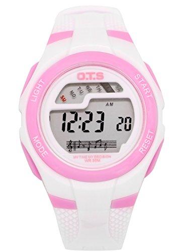 OTS - Reloj Digital Deportivo con Alarma Impermeable Luminoso de Cuarzo Cronómetro para Niños Niñas...