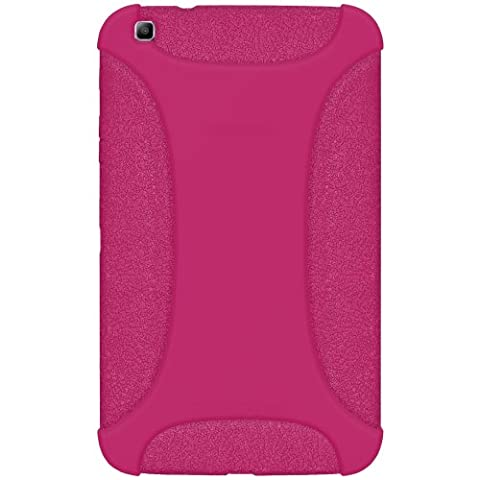 Amzer Exclusive Silicone Skin Jelly Case Cover for 8.0 inch Samsung Galaxy Tab 3 SM-T310/T315 - Hot Pink