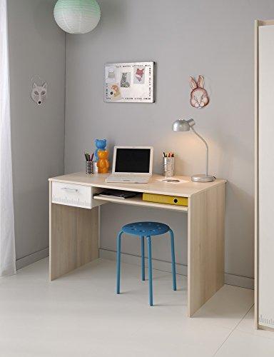 Parisot-2498BURE-Bureau-Charly-Acacia-ClairBlanc-Bois
