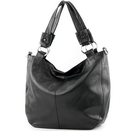 modamoda-de-Made-in-Italy-Womens-Shoulder-Bag-black-black