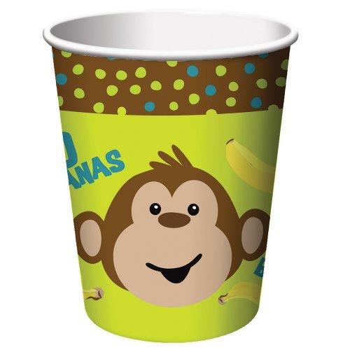 Creative Converting Monkeyin Around Beverage Cups|8 pcs