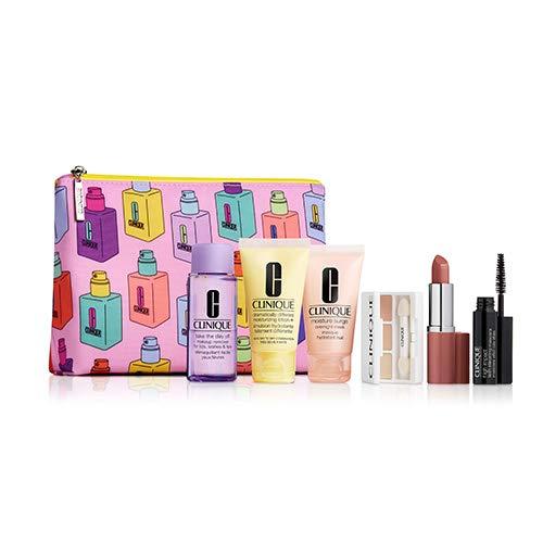 Clinique 6-teiliges Hautpflege- und Make-up-Set mit Kosmetiktasche -