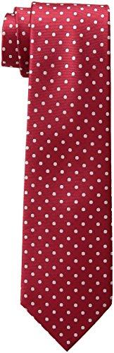 Tommy Hilfiger Ellipsis Dot - Corbata para hombre - Rojo - talla única
