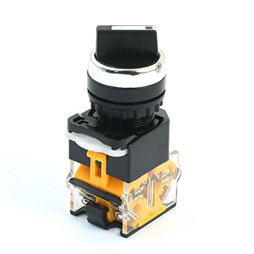380 V 10 A NO NC DPST 2 Position Latching Rotary Selector Power Switch -