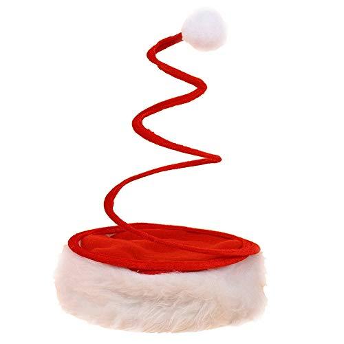 (Hmeng Weihnachtssankt-Hut, ökonomische Traditionelle Rote u. Weiße Weihnachts-Weihnachtsmann-Kappe für Feiertags-Party (Rot))