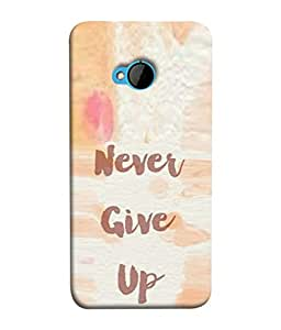 PrintVisa Designer Back Case Cover for HTC M7 :: HTC One M7 (Message quote proverbs inspiration motivation)