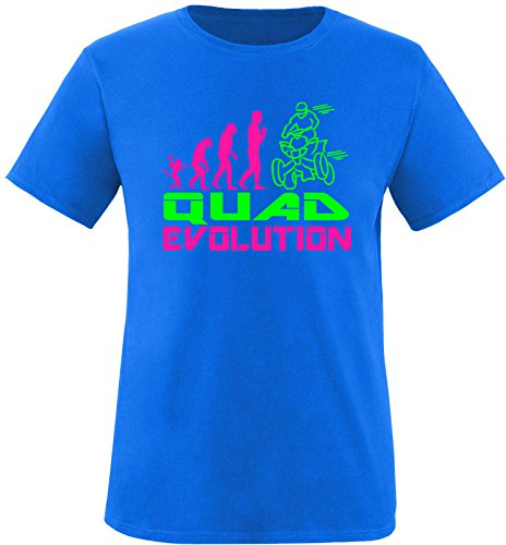 EZYshirt® Quad Evolution Herren Rundhals T-Shirt Royal/Pink/Neongr
