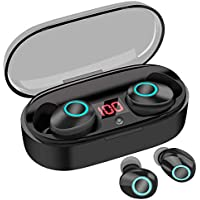 True Wireless Earbuds, 16H Playtime, Volume Control, Bluetooth Headphones 5.0 Mini Stereo Headset with Microphone, IPX5 Waterproof, Hi-Fi Sound, In Ear Sport Earphones with Portable Charging Case/Box