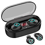 True Wireless Earbuds, 16H Playtime, Volume Control, Bluetooth Headphones 5.0 Mini Stereo Headset
