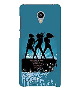 PrintVisa Quotes & Messages Wine Stylish Cool Girl 3D Hard Polycarbonate Designer Back Case Cover for YU Yunicorn