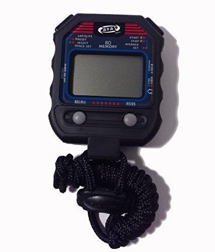MuMa-Professionelle Stoppuhr Digital 60U 60Speichermodule