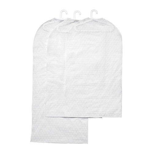 IKEA PLURING Kleiderschutzhüllen in transparent weiß; 3 Stück; (60x105cm und 60x135cm); wie SVAJS