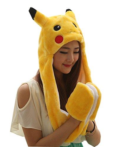 meta-u-lungo-finta-pelliccia-di-animale-cappello-cappuccio-sciarpa-guanti-tutto-in-uno-pokemon-tagli