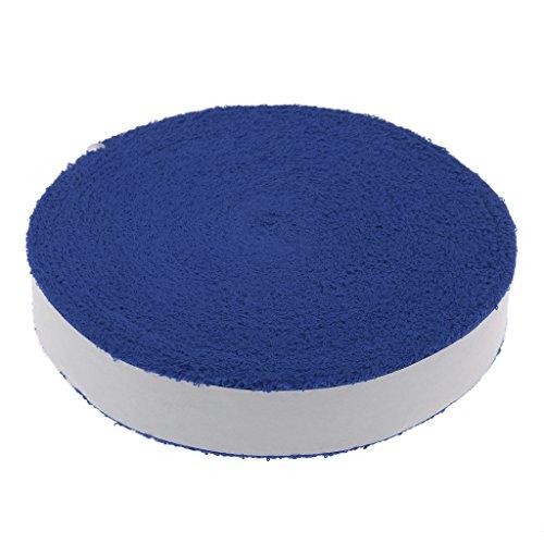 10m Rolle Stoßfest Schweißaufnahme Übergriffband Griffband für Badminton Tennis Squash Federer - Blau, 6mm