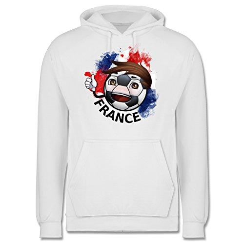 EM 2016 - Frankreich - France Fußballjunge - Männer Premium Kapuzenpullover / Hoodie Weiß