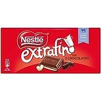 NESTLÉ EXTRAFINO 3 Chocolates Chocolate Blanco Negro y con Leche - Tableta de Chocolate