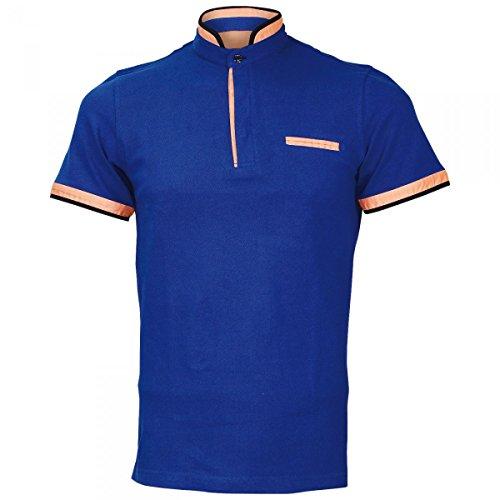 Inconnu Polo col Mao Tottenham Bleu - Taille 2XL