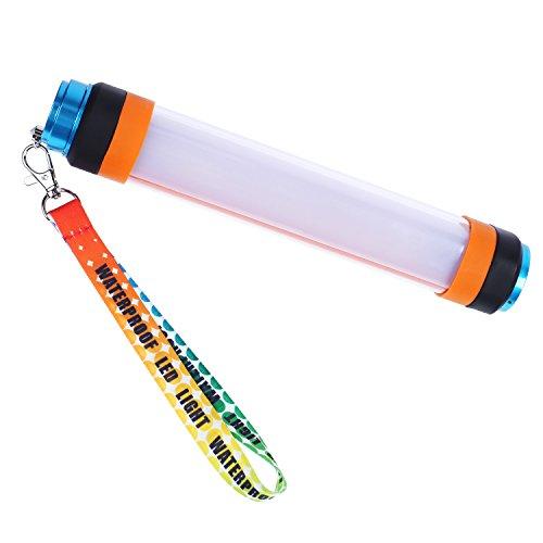 Preisvergleich Produktbild BHY LED Campinglampe USB Wiederaufladbare Taschenlampe mit 5200 mAH Batterie als Powerbank und 6 Leuchtmodi, IP68 Wasserdichte Tragbare Lampe mit Mächtiger Magnete für Camping, Wandern, Garage, Notfall