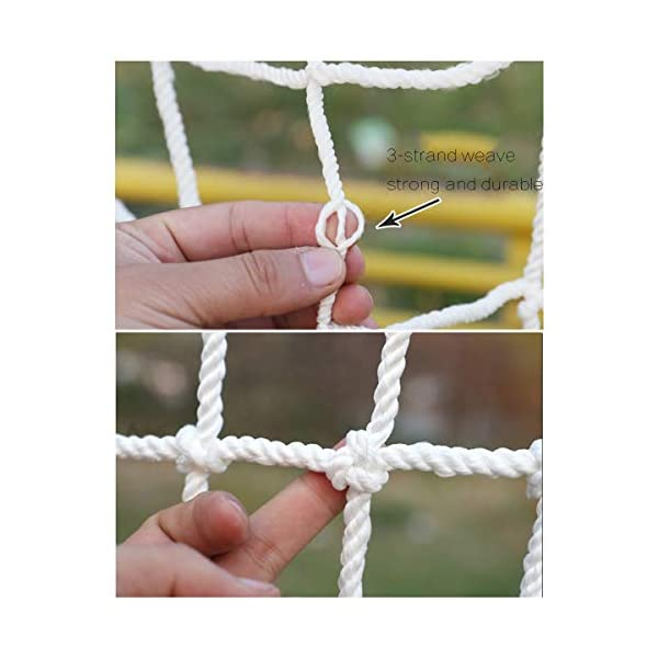 Freight Net,Playground Rope Net, Stair Children Protection Netting Balcony Cats Safety Nets, Cargo Rope Ladder Truck Trailer Netting White Nylon Net Banister Protection Fence Playground Decoration Mes SFMND ▲Multi-use Protection Net:Family balcony and railing balcony stairs safety net banister stair anti-cat climbing, anti-high fall and other intensive protection; Wall ,home, theme party hotel, guesthouse, cafe, bookshop, restaurant, decoration,hanging ect. ▲Characteristics of Decoration Net: Soft material, light mesh, multi-layer warp and weft, precise wiring, workmanship; high temperature sunscreen, waterproof; clear lines, anti-slip endurance and anti-wear. ▲Ceiling net, decorative net, shed partition net, photo wall, hanging net, stair safety net and protective net. 2