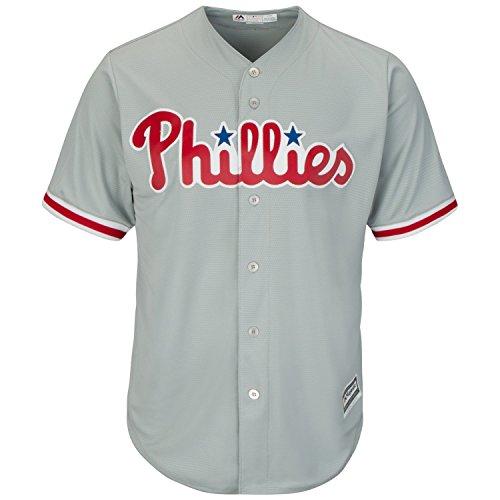 Majestic Philadelphia Phillies Cool Base MLB Trikot Road Grau (S) -