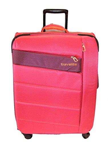 Travelite Kite 4w Trolley M, Erweiterbar, 87148-17, Koffer, 64 cm, 77 L, Pink