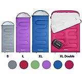 KingCamp Oasis Saco de Dormir de 3 Estaciones 4 Tamaños Disponibles (Niño, Adulto, Extragrande y Doble Extragrande) en 6 Colores