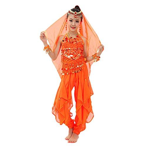 Amphia - Mädchen Indian Dance Bauchtanz Sling Rotating Pants Kostüm Set (ohne Schleier und Zubehör) - Handgemachte Kinder Mädchen Bauchtanz Kostüme Kinder Bauchtanz Ägypten Tanz ()