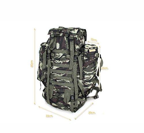 Outdoor Mode Neu Tarnung Bergsteigen Tasche Groß Kapazität Rucksack CamouflageOrange