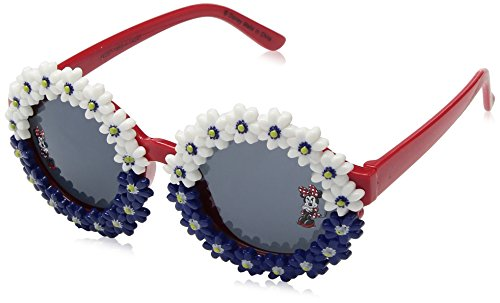 Disney Minnie Mouse Red White and Blue Floral Sunglasses For Girls